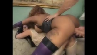 Latex Hot Babes Lil Ass And Ice Lafox Are Both Sharing The Similar Cock