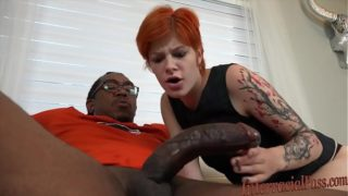 Young Red Head Ava Short Disgraces Stepfather By Wild Interracial
